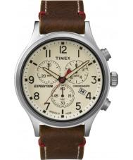Timex TW4B04300 Mens ekspedisjon speider brunt skinn chronograph klokke