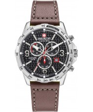 Swiss Military 6-4251-04-007 Mens ess chrono brunt skinn stropp watch