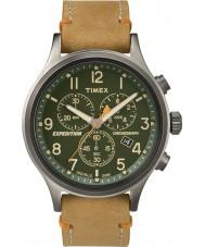 Timex TW4B04400 Mens ekspedisjon speider tan lær chronograph klokke