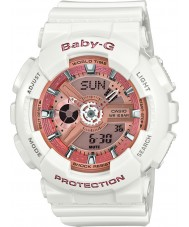 Casio BA-110-7A1ER Ladies babyen-g verdens tid hvit resin rem watch