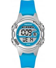 Timex TW5K96900 Ladies maraton mid size blå resin rem chronograph klokke