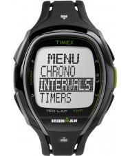 Timex TW5K96400 Ironman 150-runde i full størrelse elegant svart resin rem chronograph klokke